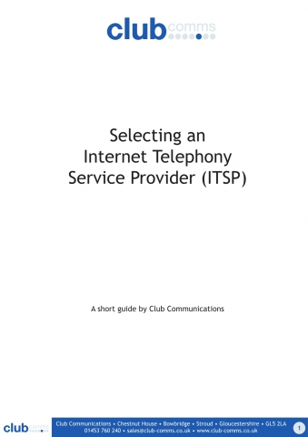 Selecting an Internet Telephony Service Provider (ITSP)
